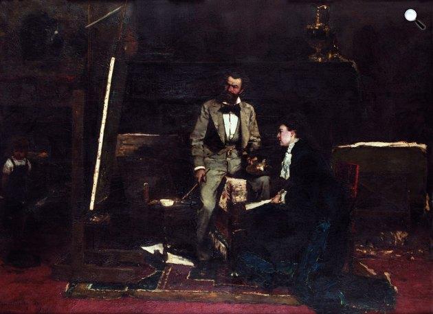 Munkácsy Mihály: Műteremben, 1876 (Fotó: hung-art.hu)
