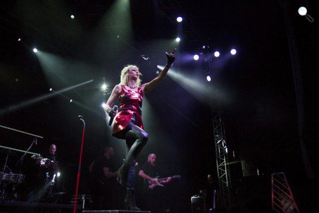 Péterfy Bori & Love Band koncertje a VOLT Fesztiválon (Fotó: MTI/Nyikos Péter)