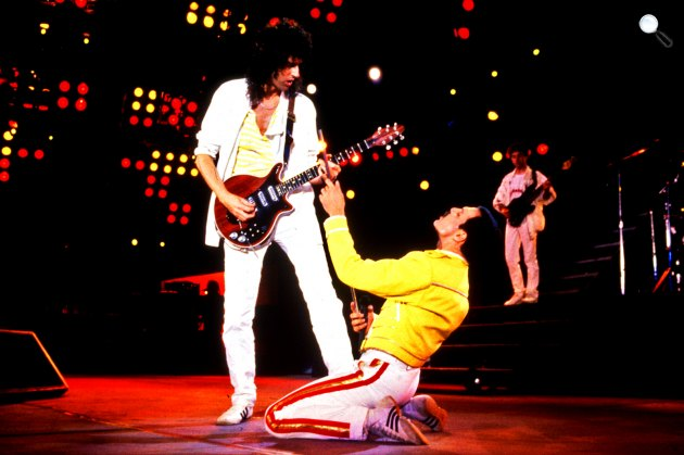Queen koncert - Freddie Mercury, Brian May, Roger Taylor, Brian Deacon (Fotó: listal.com)