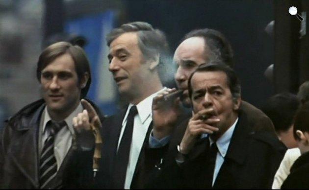Vincent, François, Paul és a többiek - Gérard Depardieu, Yves Montand, Michel Piccoli és Serge Réggiani, 1974 (Fotó: Pinterest)