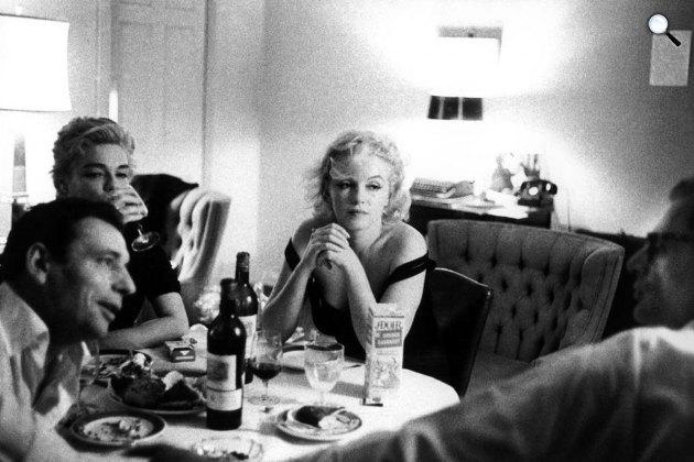 Yves Montand, Simone Signoret, Marilyn Monroe és Arthur Miller, Kalifornia, 1960 (Fotó: Pinterest)