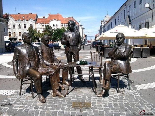 Deák Árpád: Holnaposok (Ady Endre, Juhász Gyula, Dutka Ákos és Emőd Tamás), Nagyvárad (Fotó: Kibelbeck Mara / Cultura.hu)