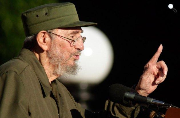 Fidel Castro (1926-2016) kommunista politikus beszédet mond, 2010, Kuba (Fotó: Twitter)
