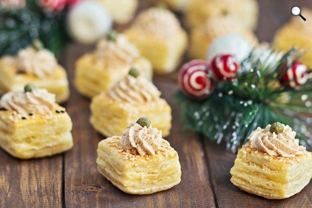 Karácsonyi libamáj pástétom leveles tésztán (Fotó: cuisineazcom)
