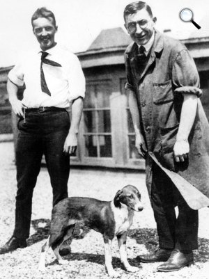 Frederick Banting és Charles H. Best, 1921 (Fotó: Wikipédia)