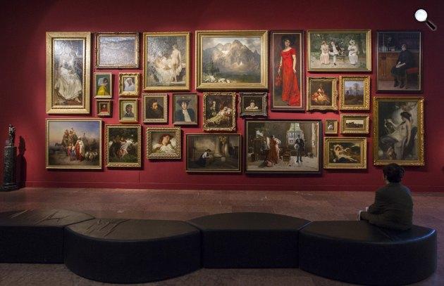 A Magyar Nemzeti Galéria 19. századi állandó kiállítása, Budapest (MTI Fotó: Szigetváry Zsolt)