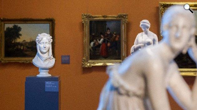 Ferenczy István: Viczay grófné c. szobra, Magyar Nemzeti Galéria 19. századi állandó kiállítása, Budapest (MTI Fotó: Szigetváry Zsolt)
