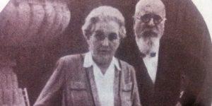 Gundel Károly vendéglős és felesége, Gundel Károlyné Balsutig Margit, 1945, Budapest (Fotó: Gundel Imre: Gasztronómiáról és Gundelekről)