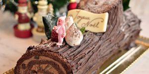 Karácsonyi fatörzs, Bûche de Noël au chocolat (Fotó: cuisineazcom)