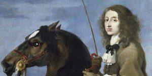 Sébastien Bourdon: Krisztina svéd királynő lovagolóportréja, 1653 (Fotó: Wikiart)
