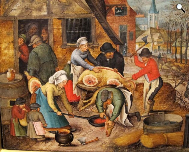 Id. Pieter Brueghel: Disznóvágás, 1616 (Fotó: Wikipédia)