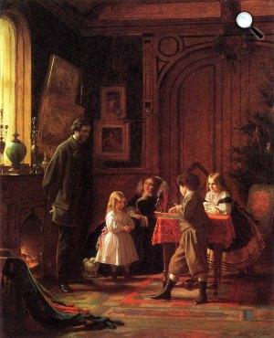 Eastman Johnson: Karácsony, 1864 (Fotó: metmuseum.org)