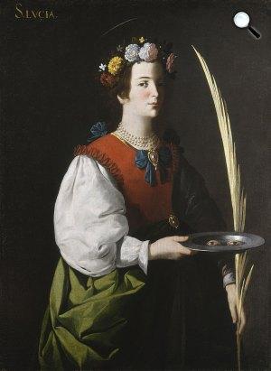 Francisco Zurbarán: Szent Lúcia , 1635-45) (Fotó: Wikiart)