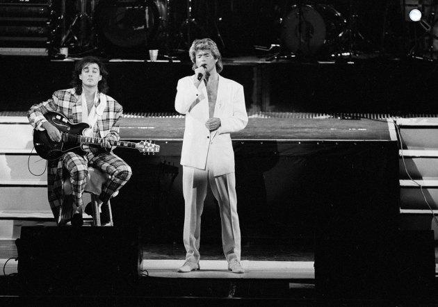 Wham - George Michael és Andrew Ridgeley, 1985 (Fotó: listal.com)