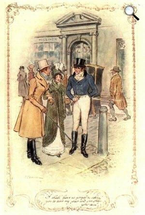 Jane Austen: Meggyőző érvek, 1818 illusztrálta: C.E. Brock (Fotó: janeausten.co.uk)