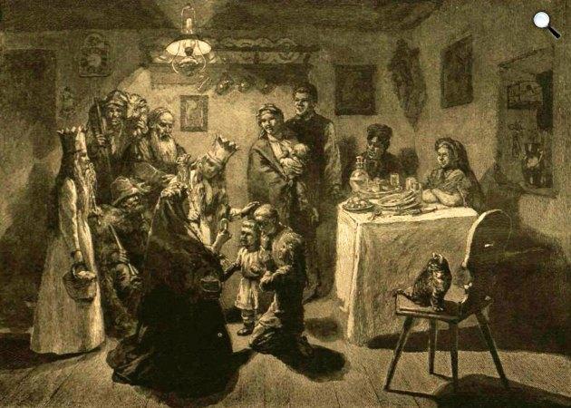 Karácsonyi szokások, 1896 (Fotó: Vasárnapi Ujság / OSZK)