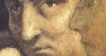 Masaccio önarcképe a Brancacci-kápolna freskóján, 1420 (Fotó: Wikipédia)