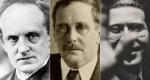 Gerhart Hauptmann, H.G. Wells és Moholy-Nagy László (Fotók: babelio.con, guggeinheim.org)