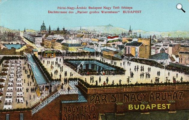 A Párisi Nagy Áruház épülete, Budapest, 1911 retro (Fotó: lotzterem.hu)