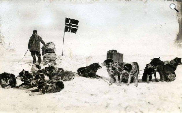 Roald Amundsen expedíciója a Déli Sarkon, 1911 (Fotó: Wikipédia)