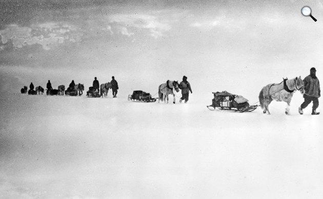 Robert Falcon Scott expedíciója a Déli Sarkon, 1911 (Fotó: Wikipédia)