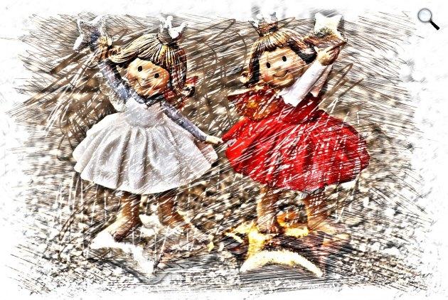Karácsonyi angyal figurák (Fotó: pixabay.com)