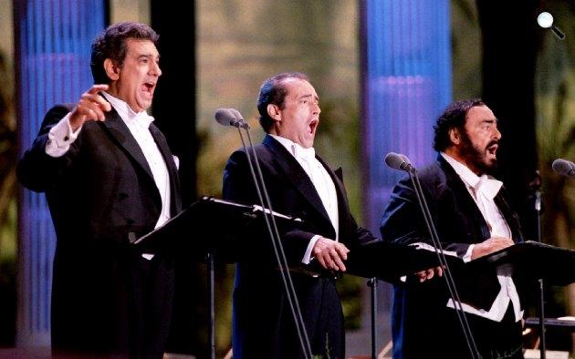 A három tenor: Placidó Domingo, José Carreras és Luciano Pavarotti (Fotó: allmusic.com)