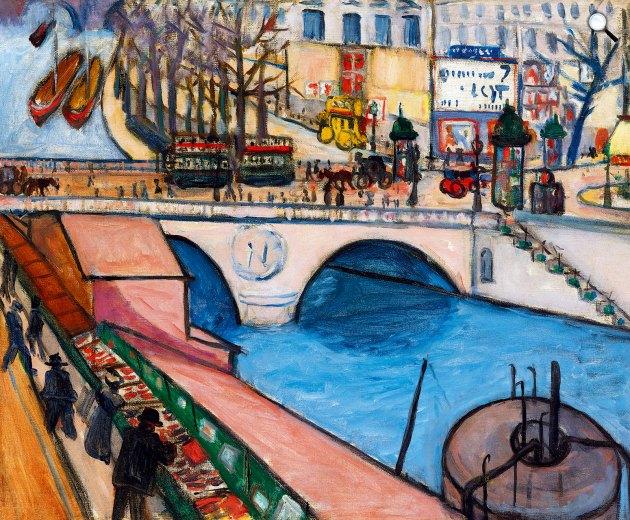 Tihanyi Lajos: Pont St. Michel (Párizs), 1908 (Fotó: Kieselbach Galéria)