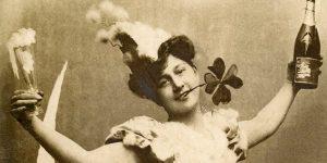 Vintage szilveszteri üdvözlőkártya (Fotó: pixabay.com)