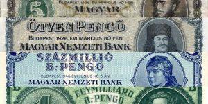 Magyar pengő, 1926-1946 (Fotó: Magyar Nemzeti Bank)