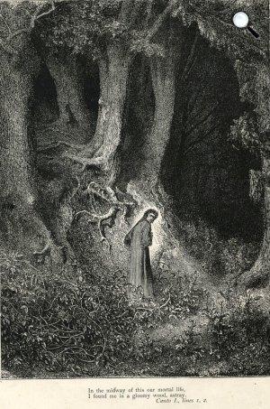 Dante - Gustav Doré: Isteni színjáték, Pokol, illusztráció, 1861 (Fotó: Wikiart)