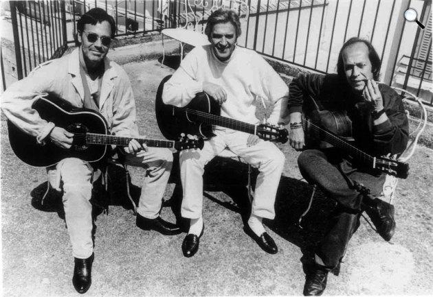 A gitár trió: Al di Meola, John McLaughlin és Paco de Lucia (Fotó: johnmclaughlin.com)