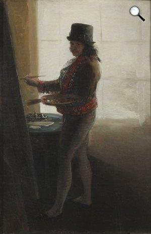 Francisco Goya: Önarckép a műteremben, 1793-95 körül (Fotó: National Gallery)