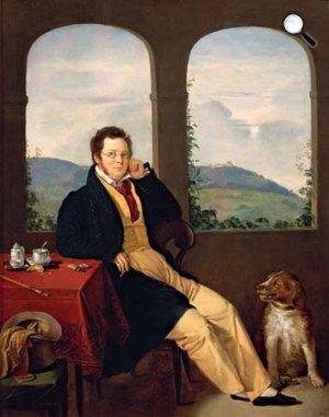 Melegh Gábor: Franz Schubert zeneszerző, 1827 (Fotó: Wikipédia)