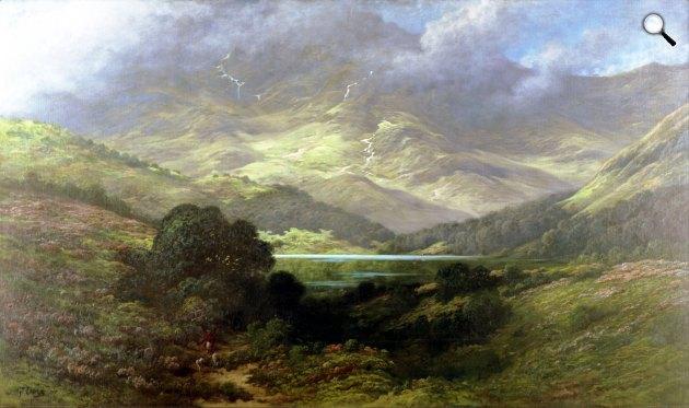 Gustave Doré: A skót felföld, 1875 körül (Fotó: Wikiart)