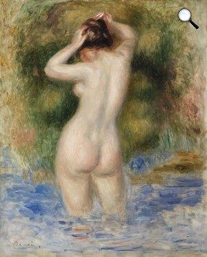 Pierre-Auguste Renoir: Fürdőző, 1890 körül (Fotó: Barnes)