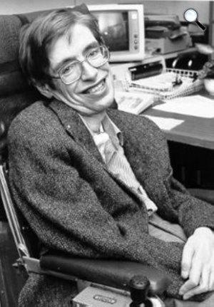 Stephen Hawking elméleti fizikus tudós a NASA-nálm 1999 (Fotó: NASA)