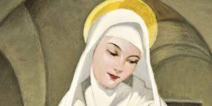 Hadzsy Olga - Szent Margit a Nyulak-szigetén, 1939 (Fotó: Biksady Galéria)