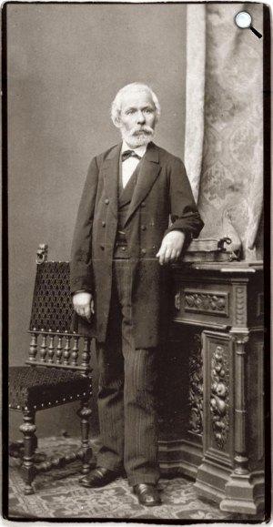 Arany János (1817-1882) költő, 1880 (Fotó: Ellinger Ede / PIM)