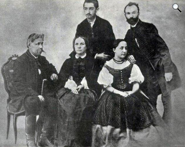 Arany János családja körében 1863 körül (Fotó: Vasárnapi Újság, 1914 / OSZK)