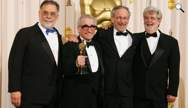 F. F. Coppola, Martin Scorsese, Steven Spielberg és George Lucas, 2007 (Fotó: listal.com)