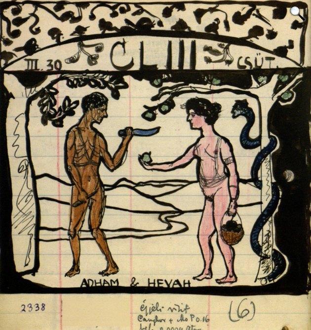 Csáth Géza rajza (Forrás: Somogyi Könyvtár)
