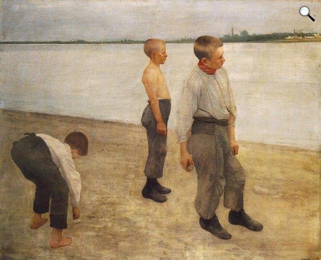 Ferenczy Károly: Kődobálók, 1890 (Fotó: MNG)