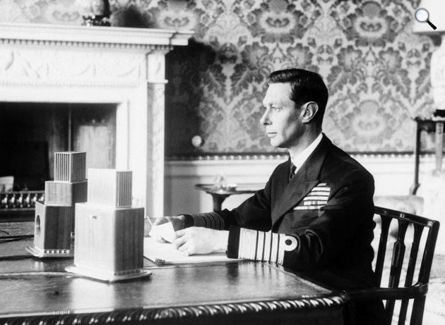 VI. György (1895-1952) angol király (Fotó: listal.com)