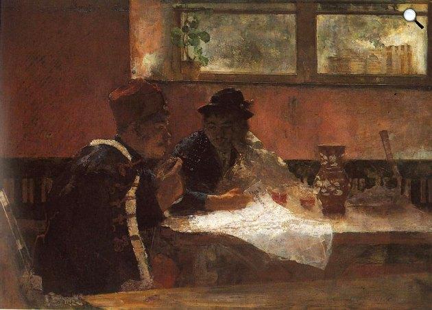 Hollósy Simon: Az ország bajai, 1883 (Fotó: MNG)