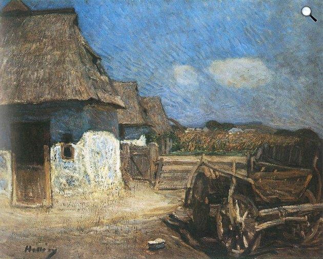 Hollósy Simon: Falusi udvar szekérrel, 1912 (Fotó: MNG)