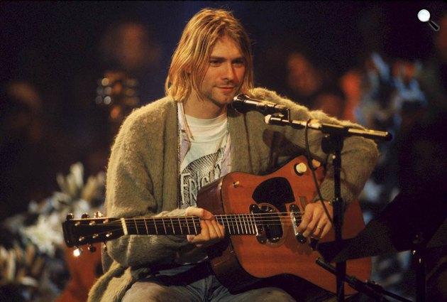 Niravana instrumentális koncertje - Kurt Cobain (1967-1994) zenész, szövegíró (Fotó: listal.com)