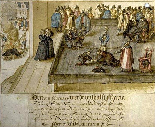 Stuart Mária, Skócia királynőjének lefejezése, 1587-ben, ismeretlen művész, 1613 (Fotó: Wikipédia)