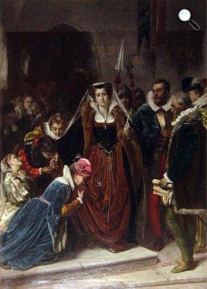 Scipione Vannutelli: Stuart Mária, Skócia királynőjét a vesztőhelyre kísérik, 1861 (Fotó: Wikiépédia)