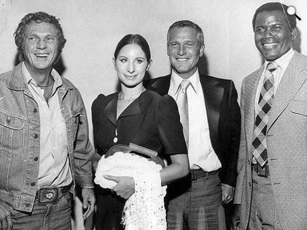 Steve McQueen, Barbara Streisand, Paul Newman és Sidney Poitier, 1972